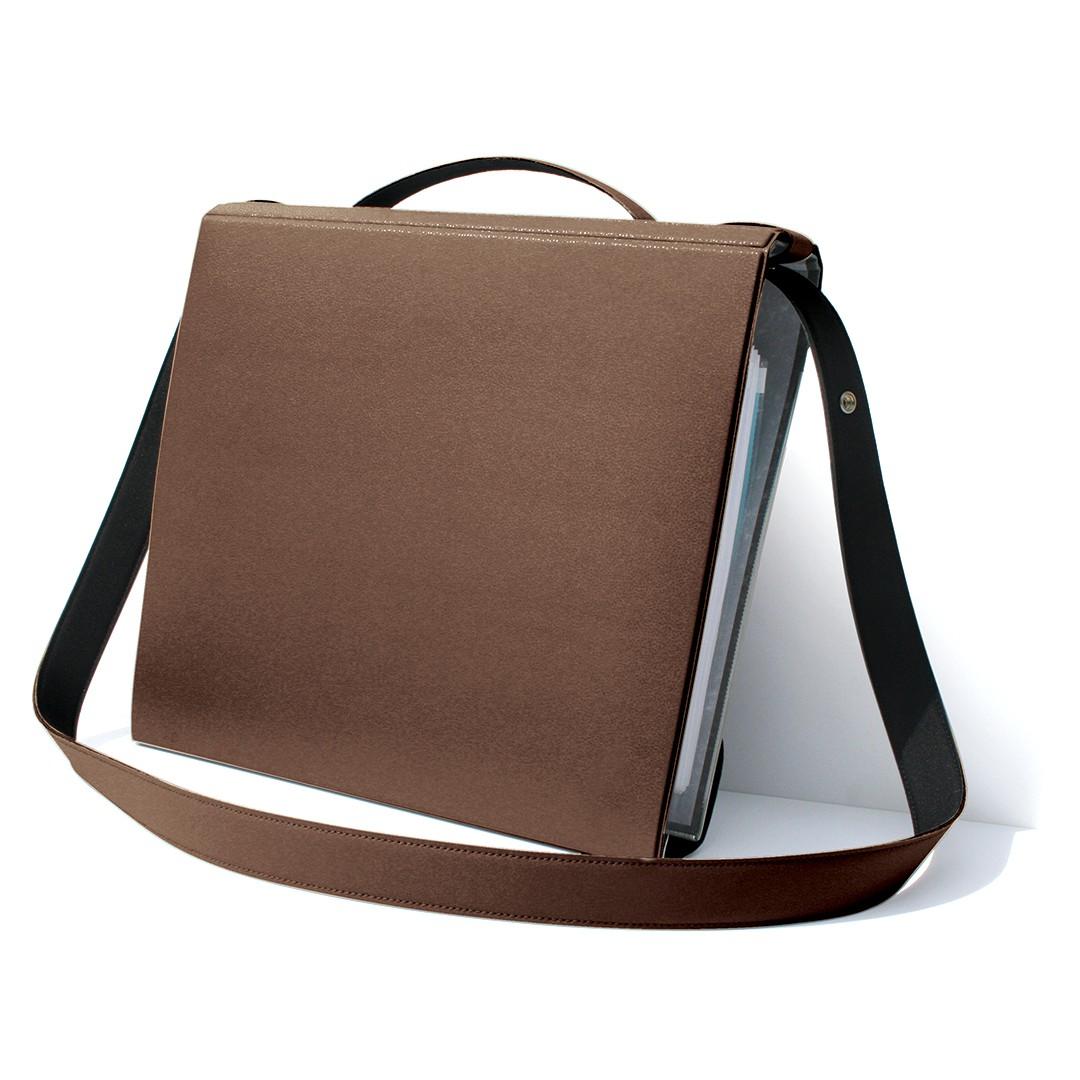 brown file holder, YAKA brown
